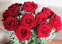 Her ser du røde roser. Få hjælp til at skrive din egen bryllupssang her på siden.
