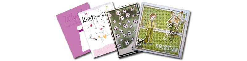 Eksempler på konfirmationskort