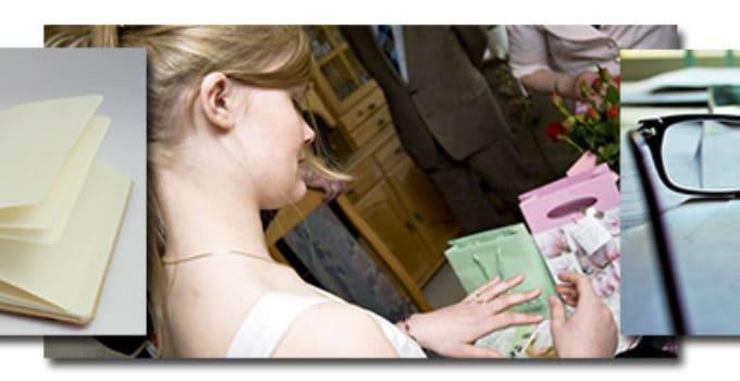 Billeder af skriveforberedelser til konfirmationstaler