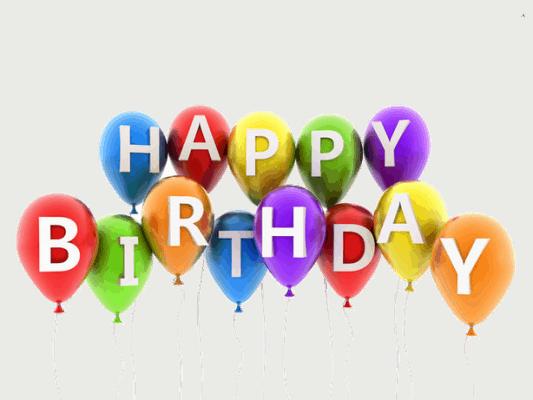 Her ser du balloner til fødselsdag. Find en fødselsdagssang her på siden.
