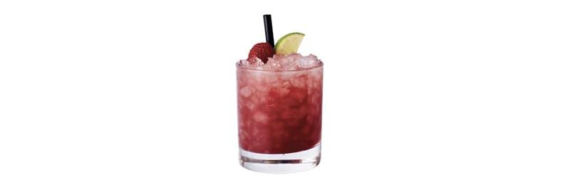 Her ser du en Hindbærbrus drink. Få en alkoholfri Hindbærbrus opskrift her.