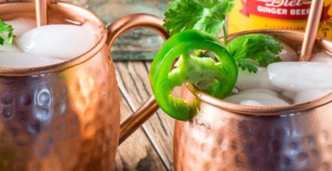 Her ser du en Mexican Mule drink. Få en Mexican Mule opskrift her.