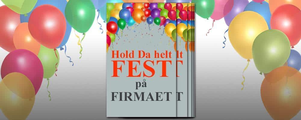Billede af invitation til firmafest