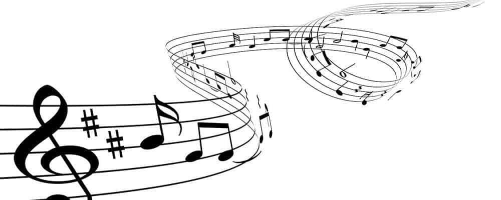 Billede af noder fra festmusik