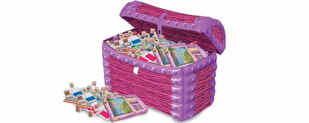 Kiste der bliver brugt til skattejagt for piger