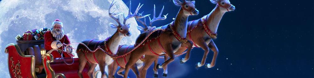 Billede der viser julemanden og julemandens rensdyr