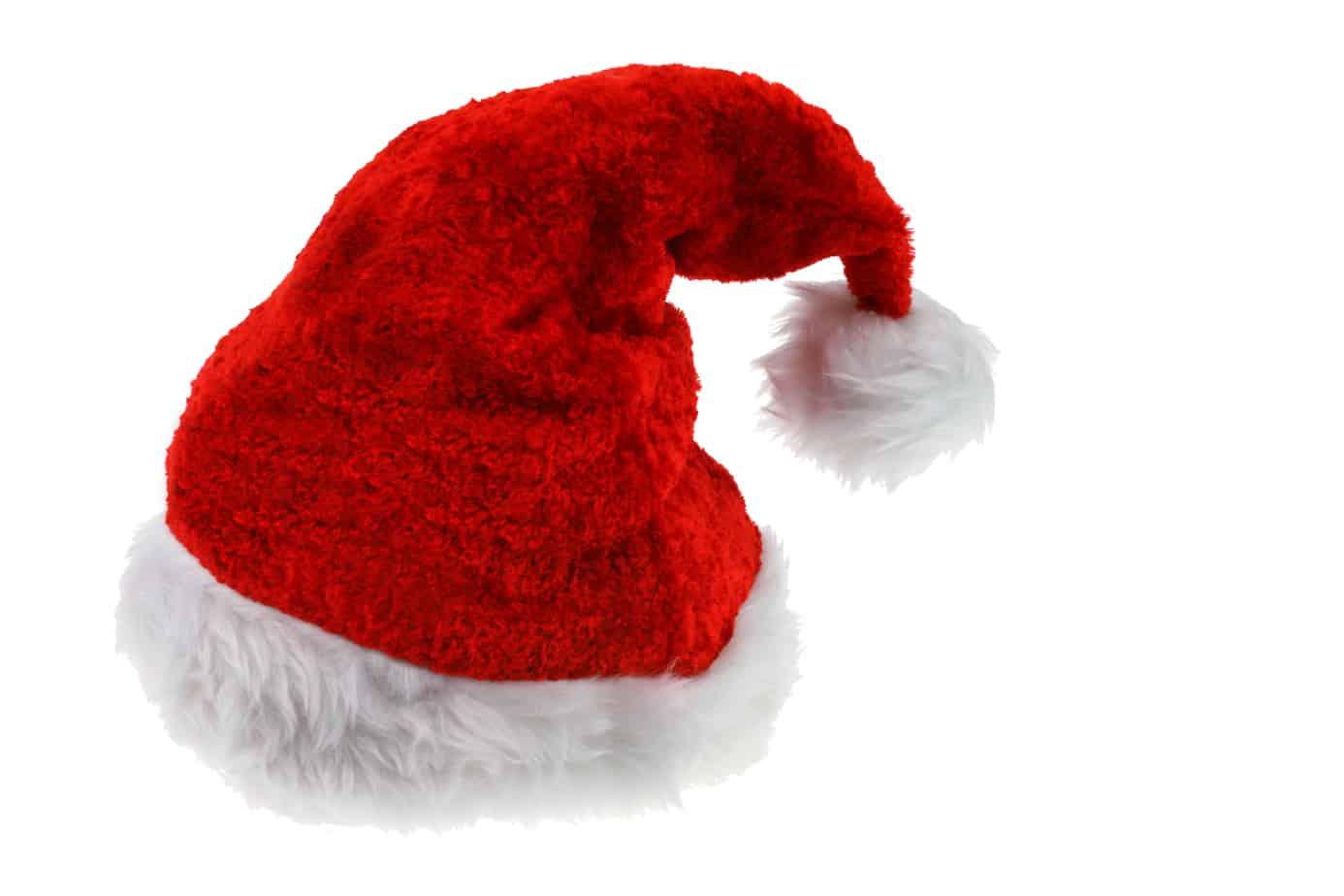 Rød, traditionel nissehue man bruger til juleunderholdning