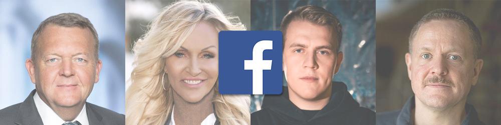 De 10 største danske Facebook-profiler